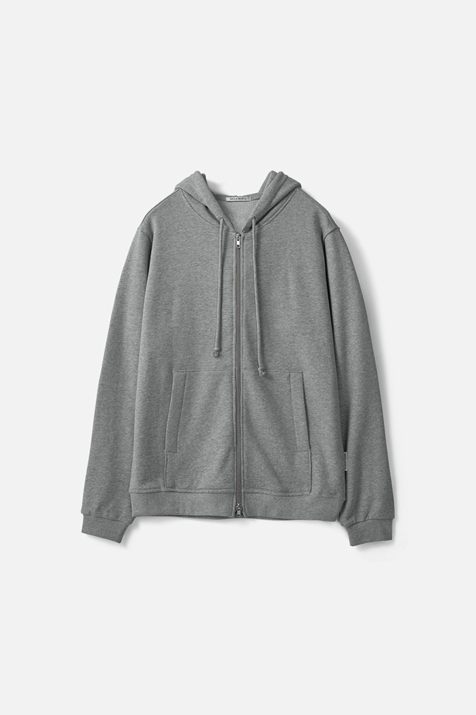HEAVY WEIGHT ZIP UP HOODIE (Premium BASIC)-GREY