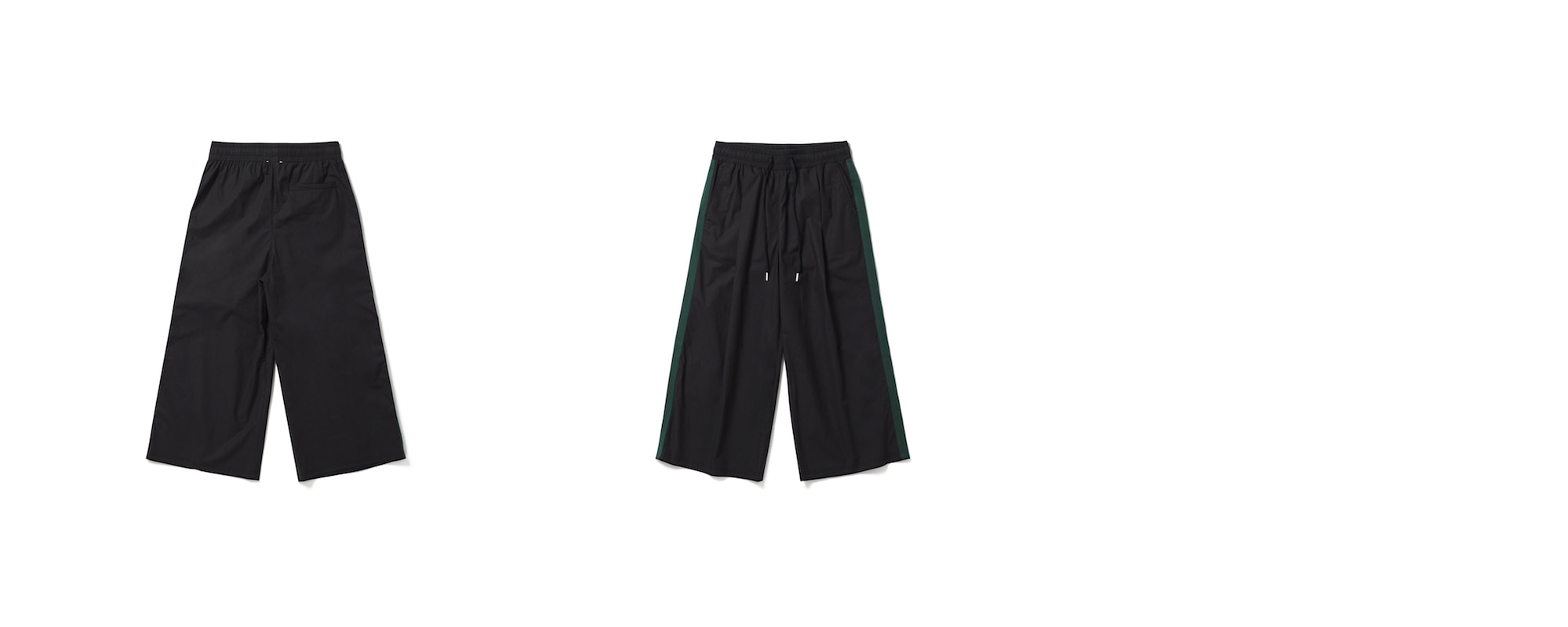 Cotton Crop Pants Black