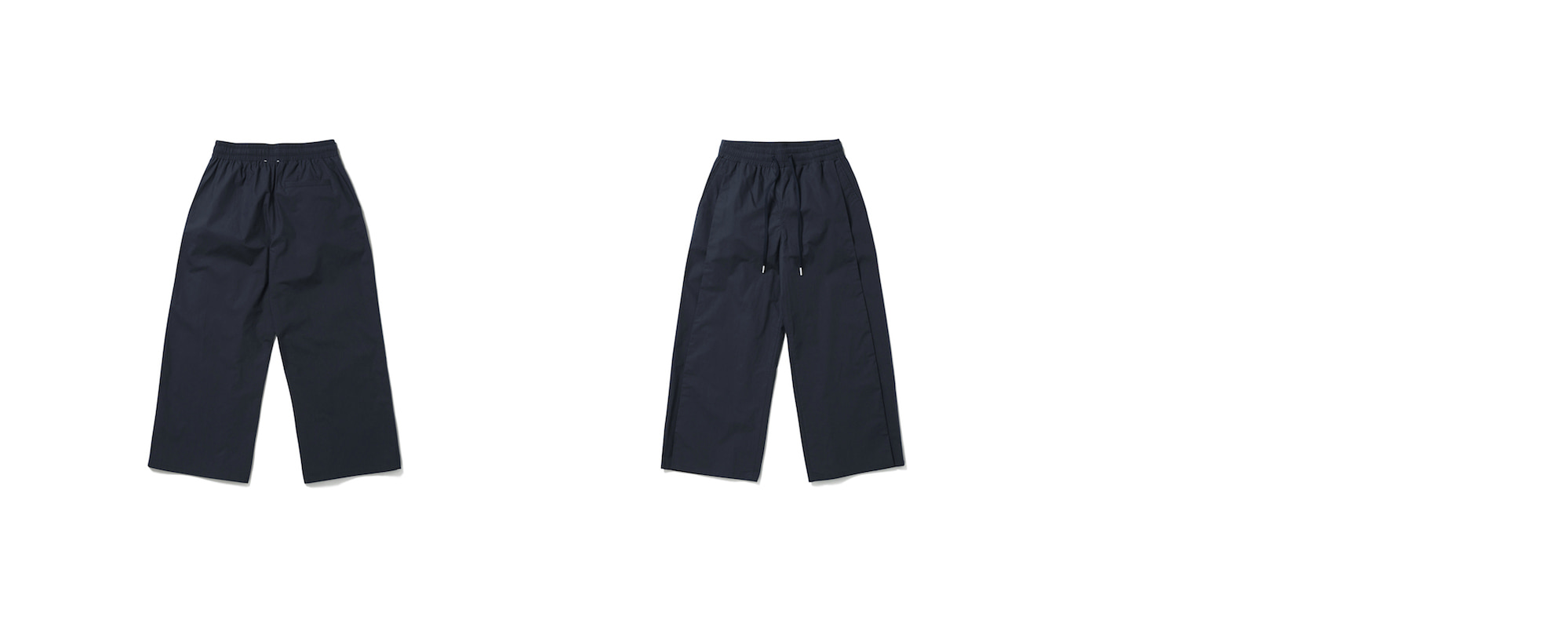 Cotton Wide Pants Deep Navy