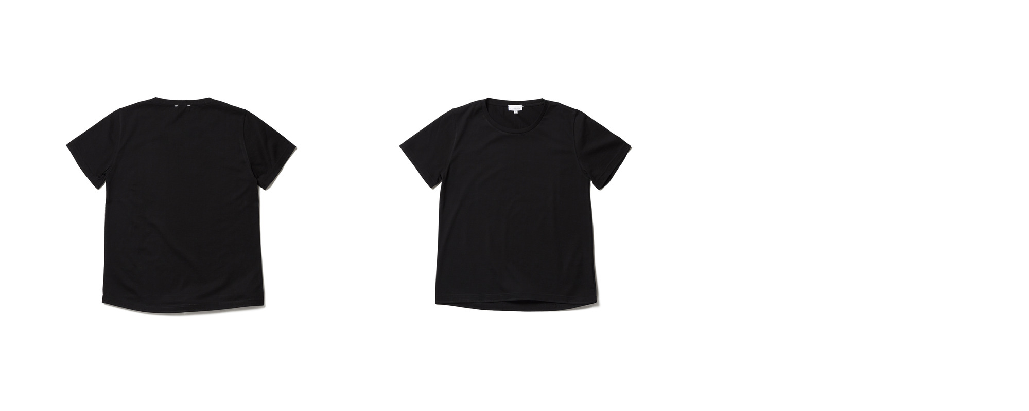 Light Half Sleeve Tee  Black