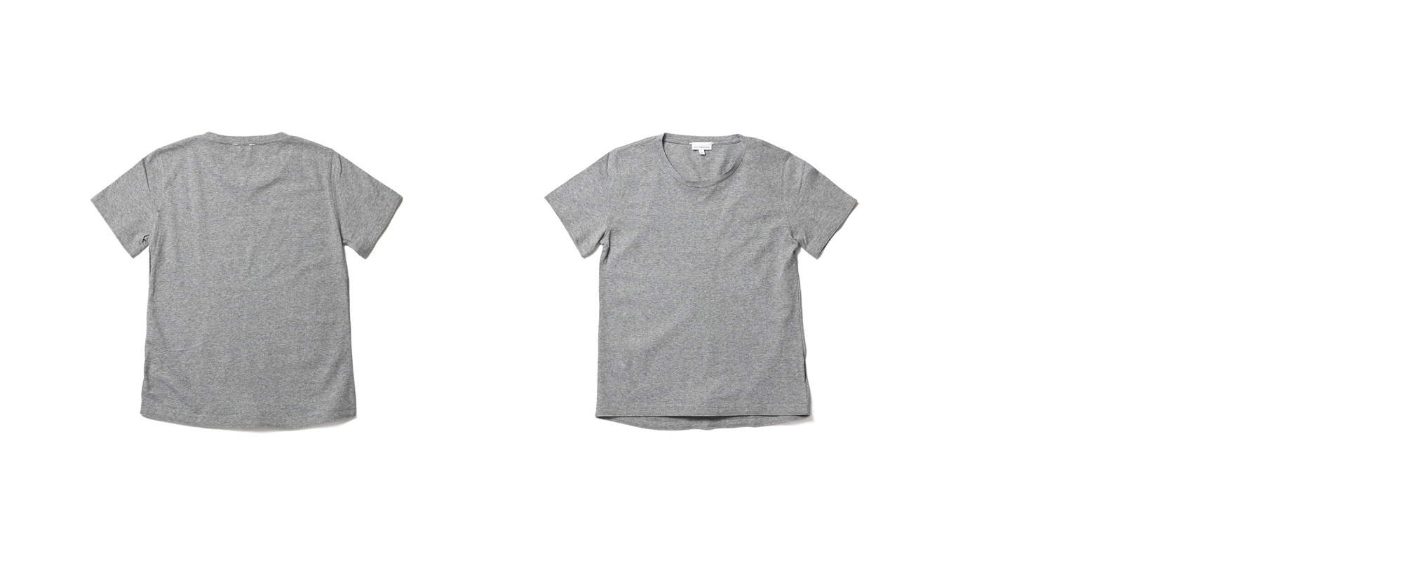 Light Half Sleeve Tee  Grey