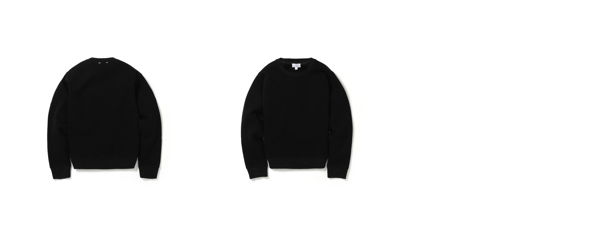 Double Pique Sweatshirt  Black