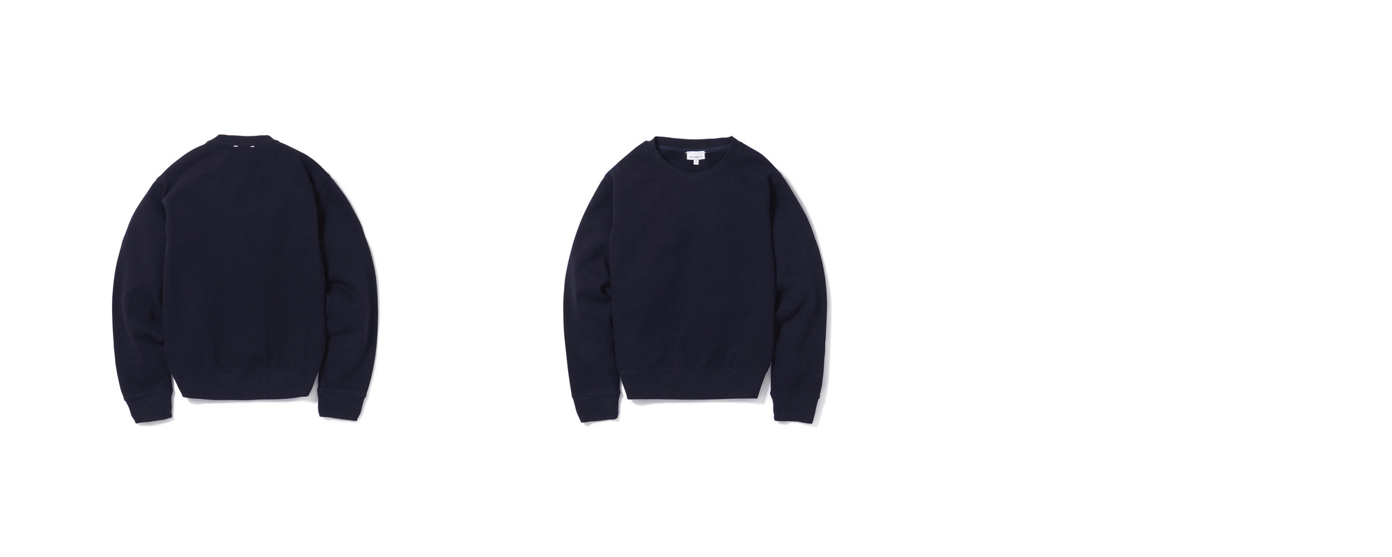 Double Pique Sweatshirt  Navy