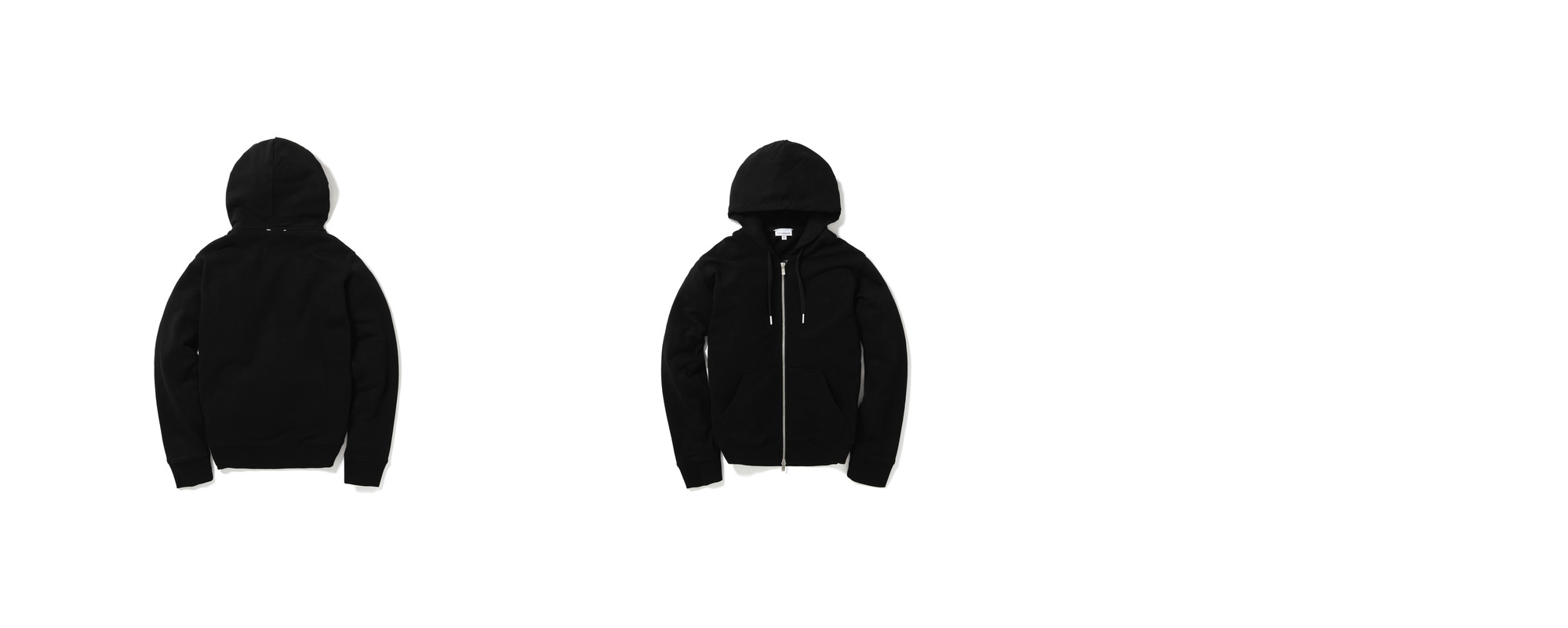 Mid-terry Zip Up hoodie  Black