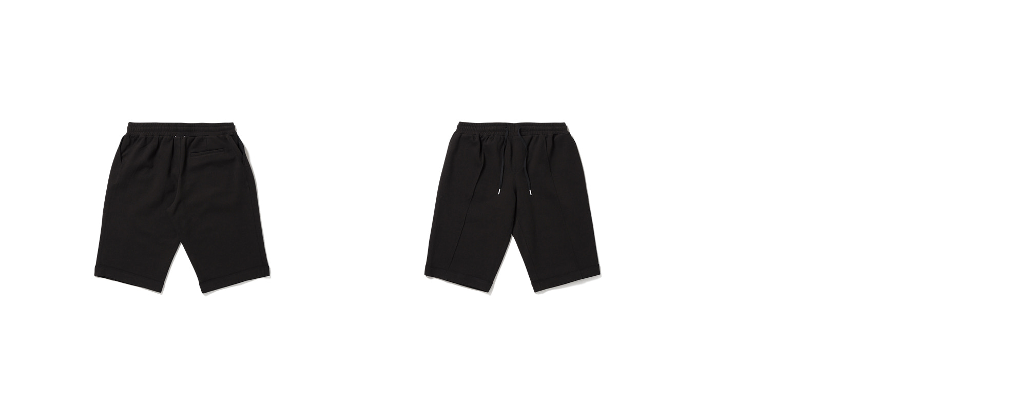 Cotton Hem Pants Black