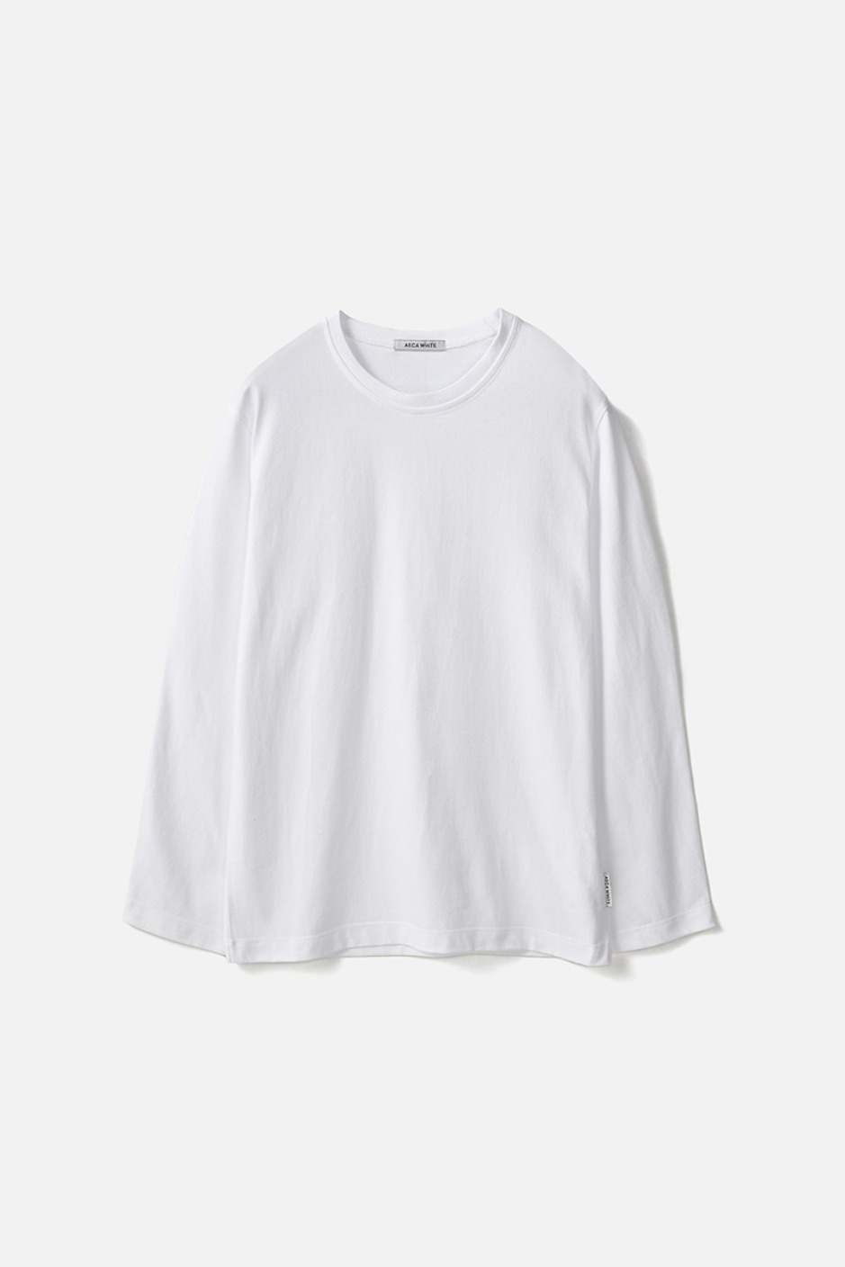 STANDARD LONG SLEEVE TEE (Premium BASIC)-WHITE