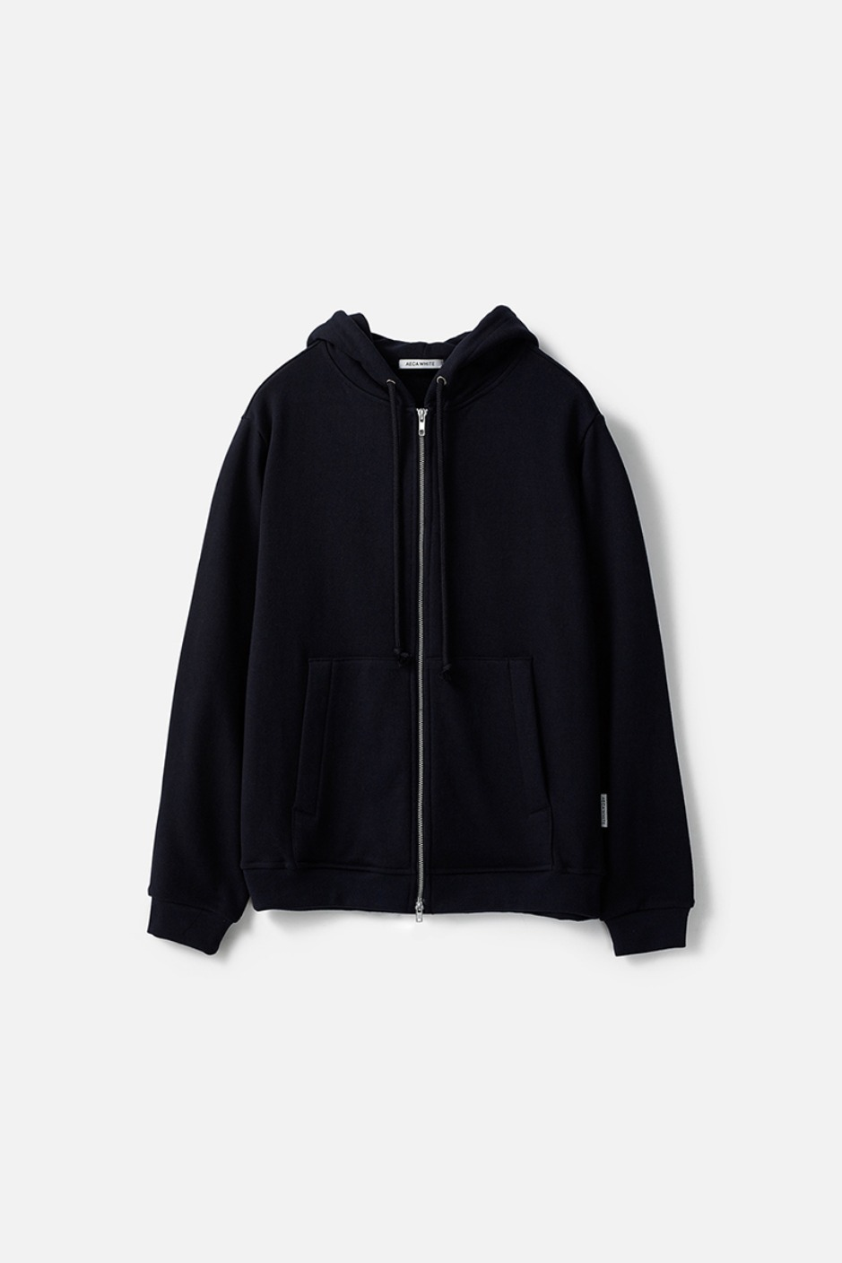 HEAVY WEIGHT ZIP UP HOODIE (Premium BASIC)-NAVY