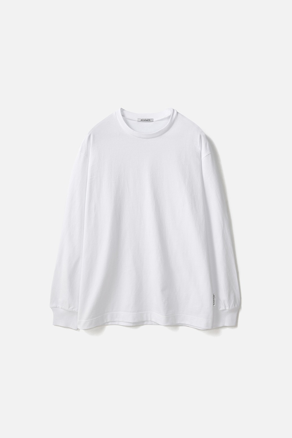 RELAXED LONG SLEEVE TEE(Premium BASIC)-WHITE