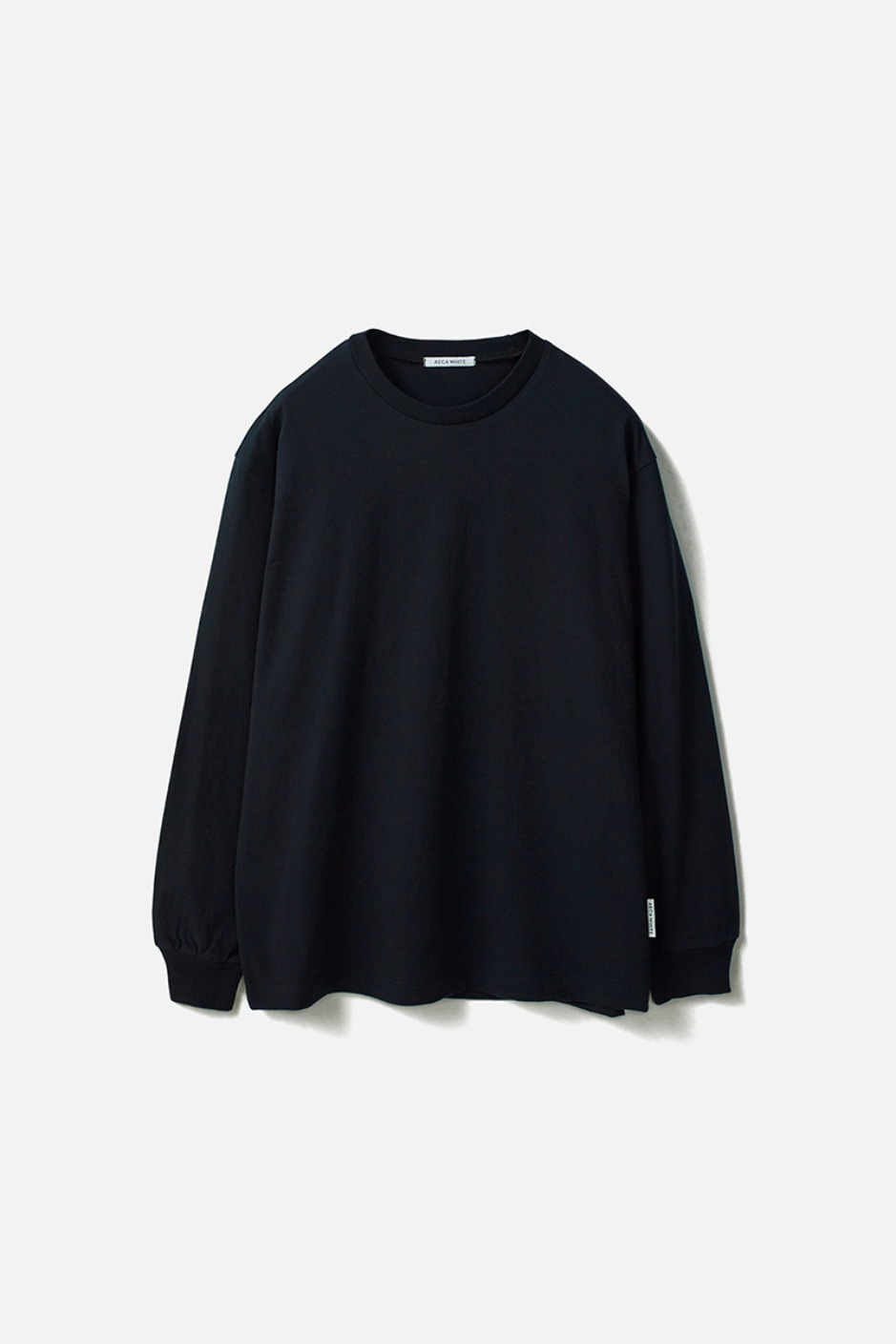 RELAXED LONG SLEEVE TEE(Premium BASIC)-NAVY