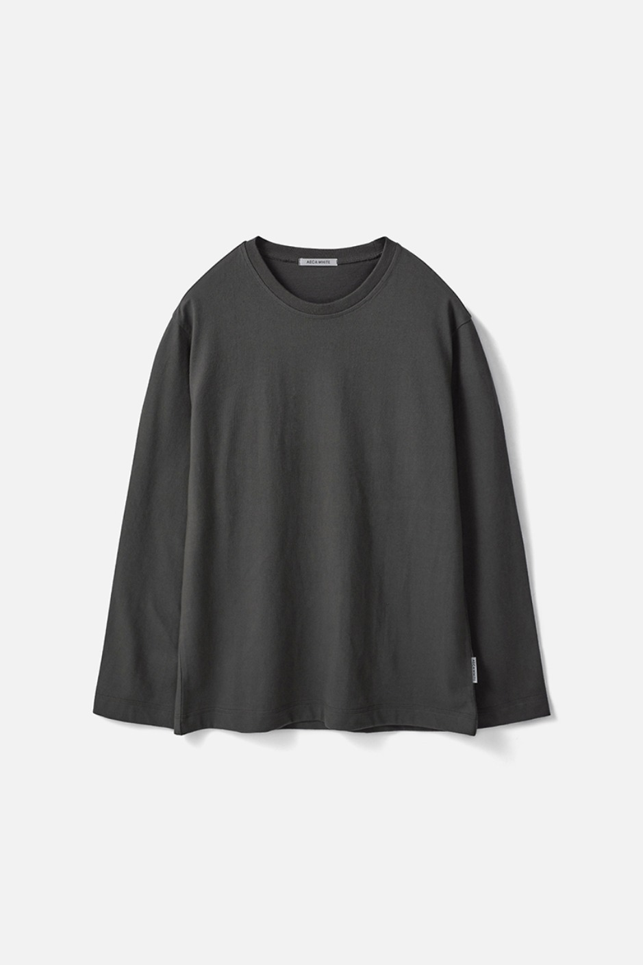 STANDARD LONG SLEEVE TEE (Premium BASIC)-CHARCOAL
