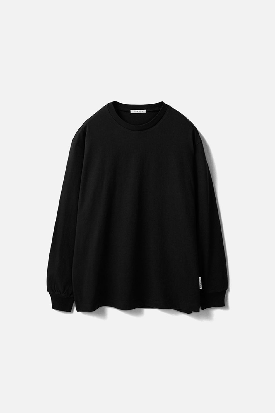 RELAXED LONG SLEEVE TEE(Premium BASIC)-BLACK