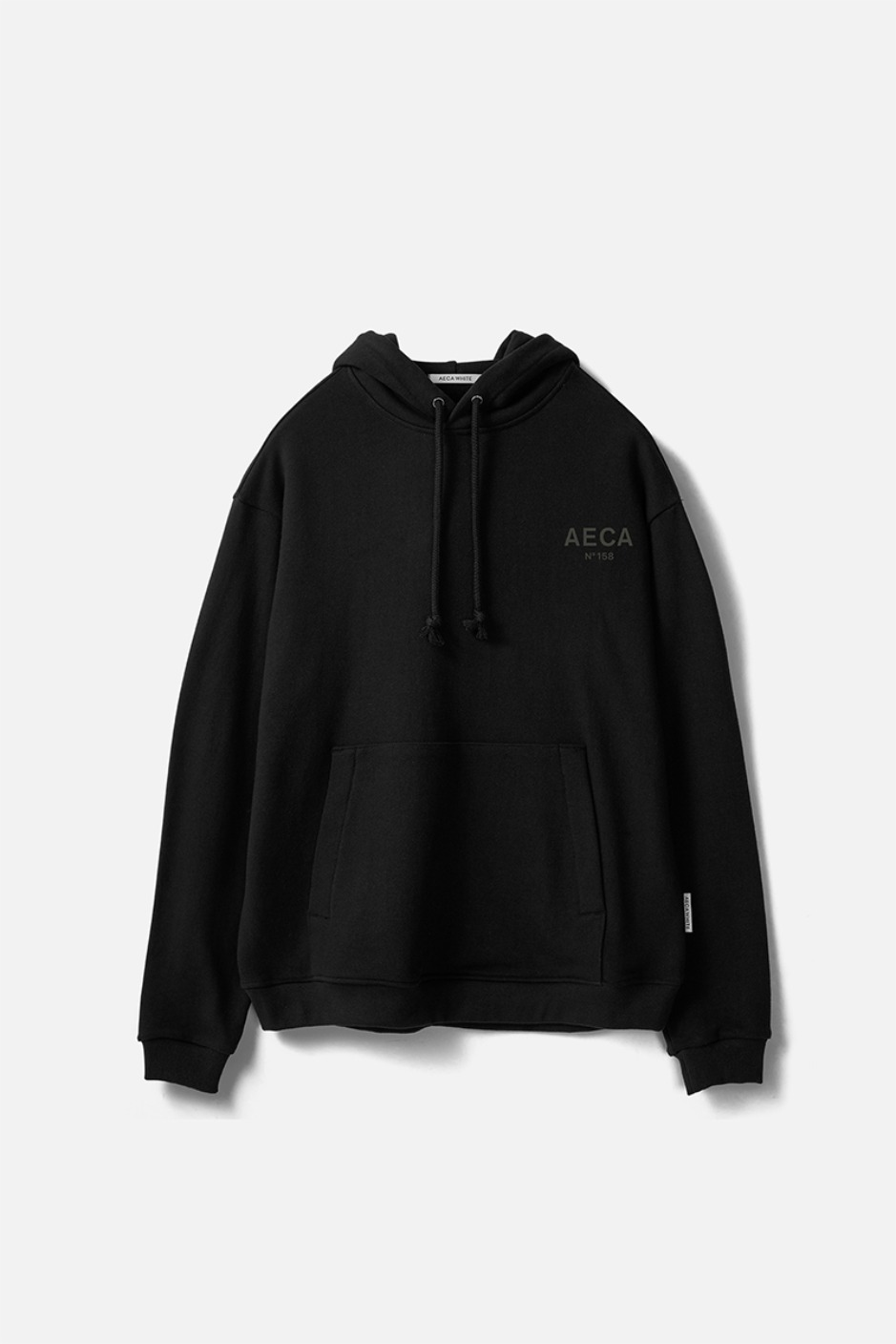 AECA SMALL LOGO PULLOVER HOODIE-BLACK