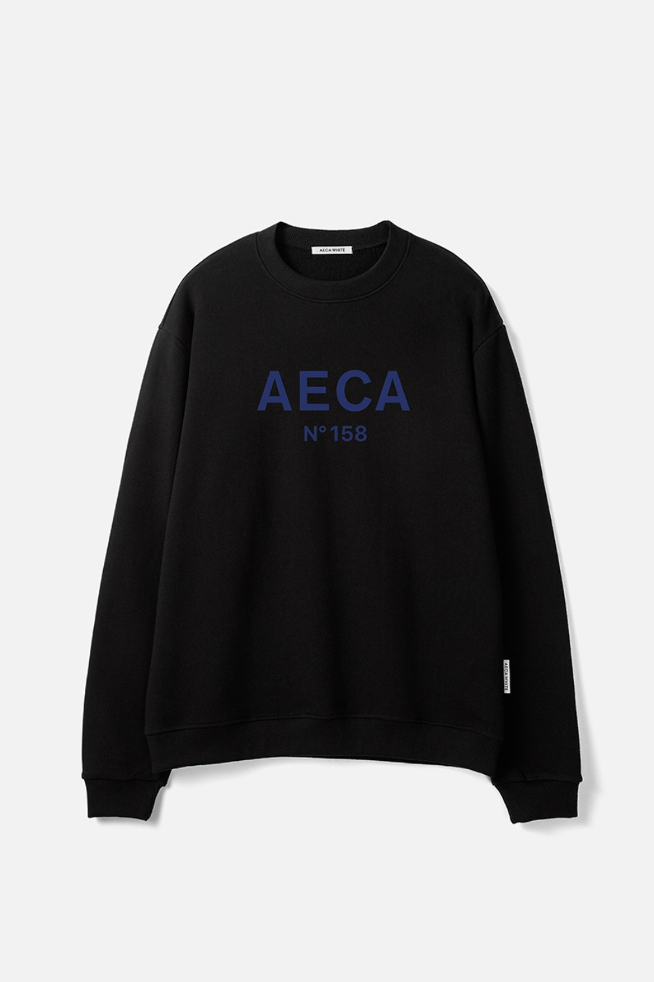 AECA BIG LOGO SWEATSHIRT-BLACK