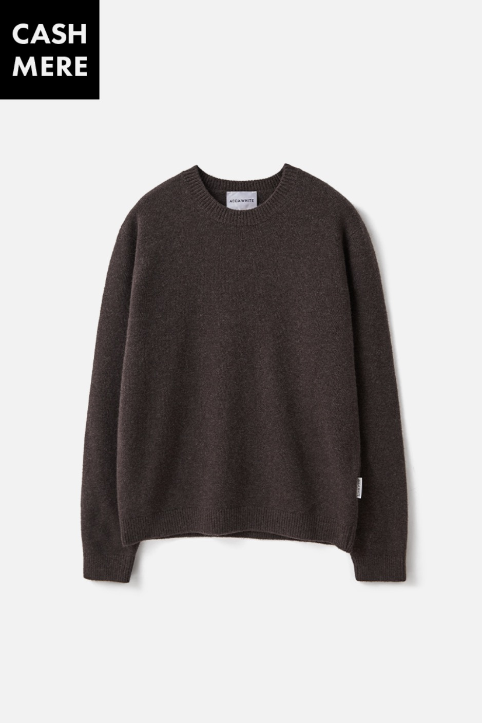 CASHMERE WOOL KNIT (Premium BASIC) -BROWN
