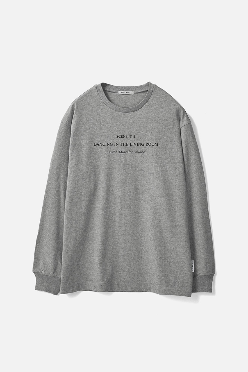 STAND FOR BALANCE LONG SLEEVE TEE-GREY