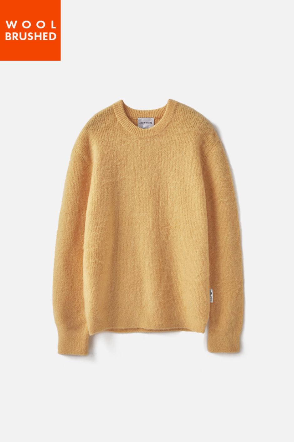 OVERSIZE WOOL BRUSHED KNIT-YELLOW
