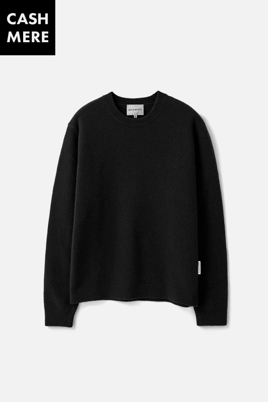 CASHMERE WOOL KNIT (Premium BASIC) -BLACK