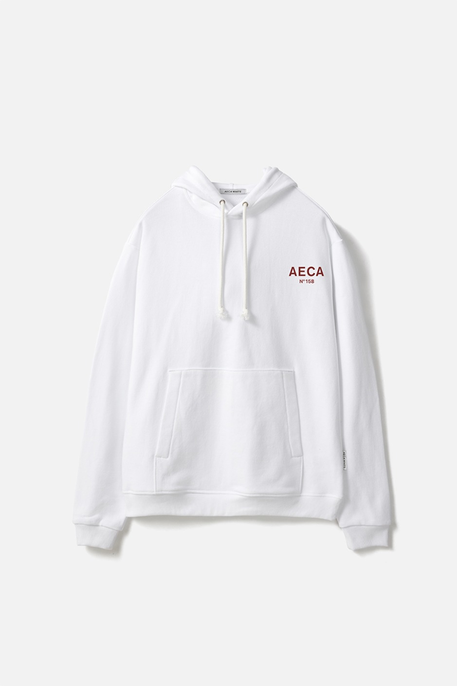 AECA SMALL LOGO PULLOVER HOODIE-WHITE