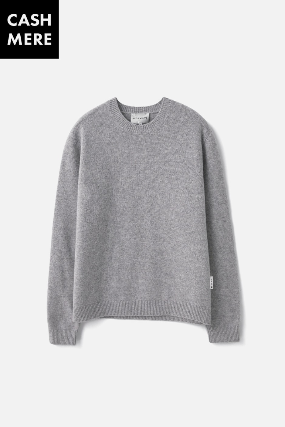 CASHMERE WOOL KNIT (Premium BASIC) -GREY