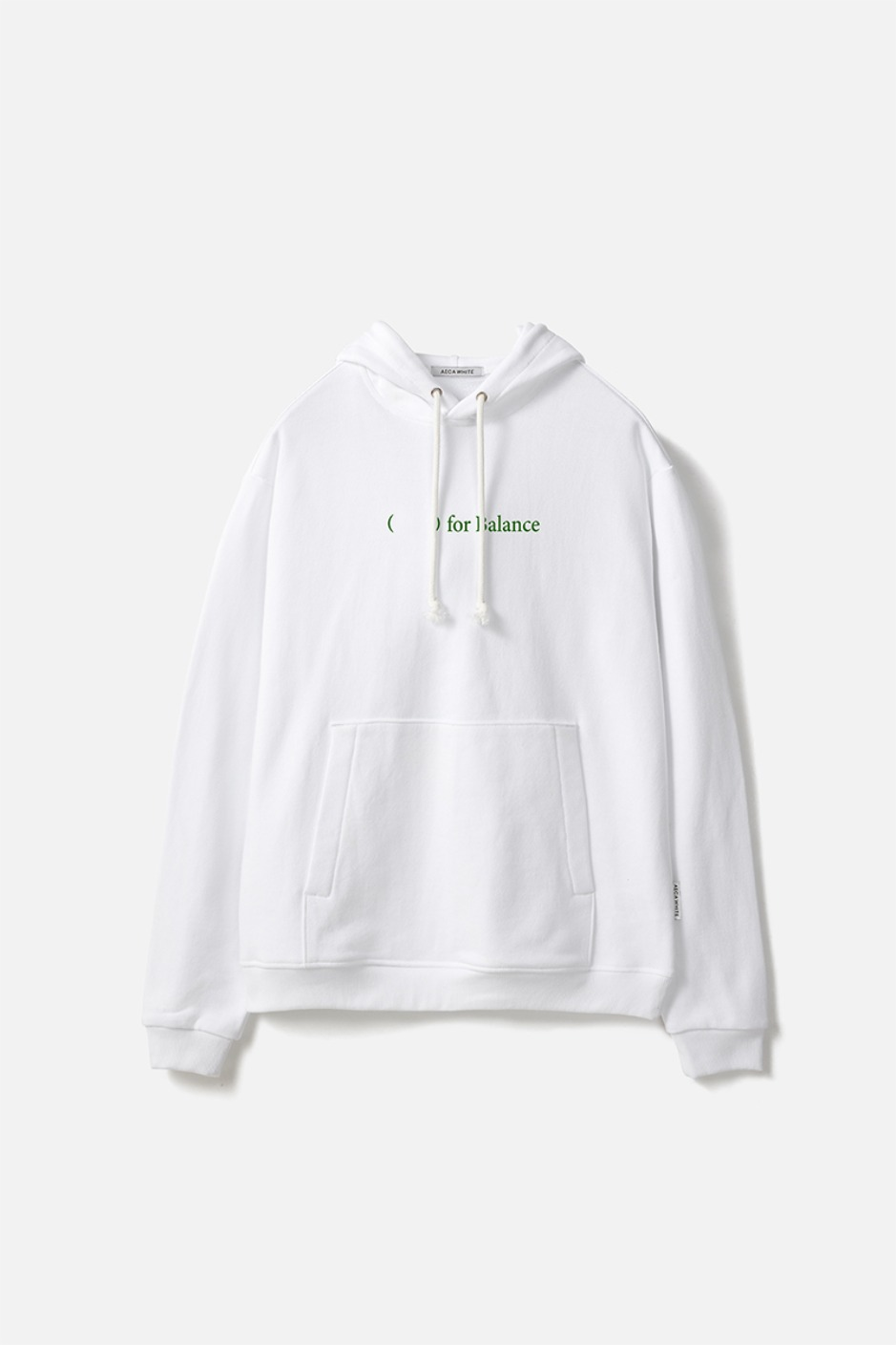FOR BALANCE PULLOVER HOODIE-WHITE
