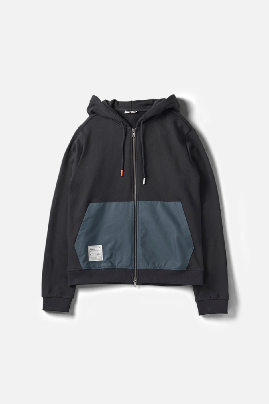 RAWROW X AECA WHITE HOODIE ZIP-UP-CHARCOAL