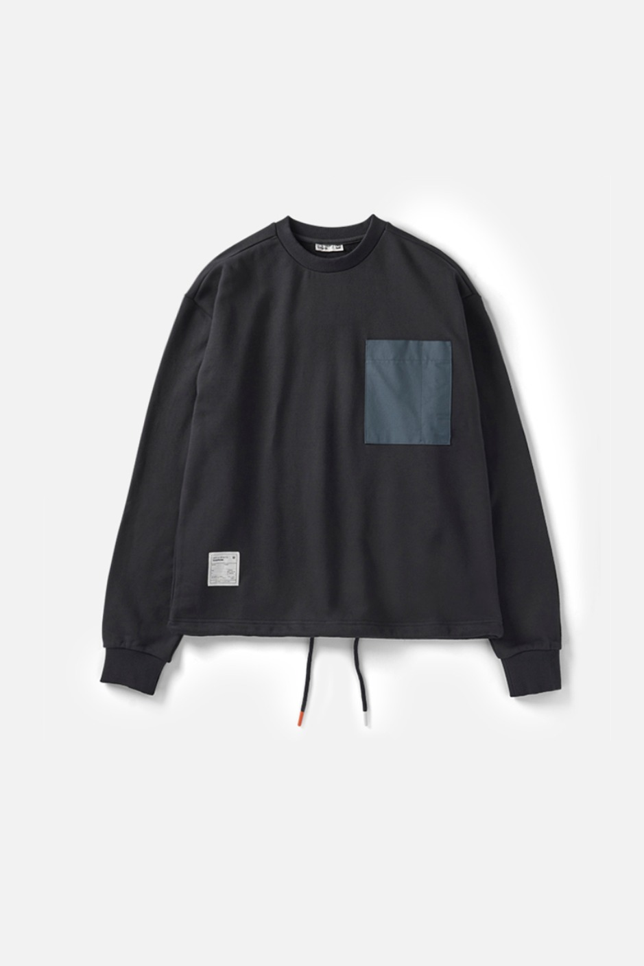 RAWROW X AECA WHITE STRING SWEAT SHIRT-CHARCOAL