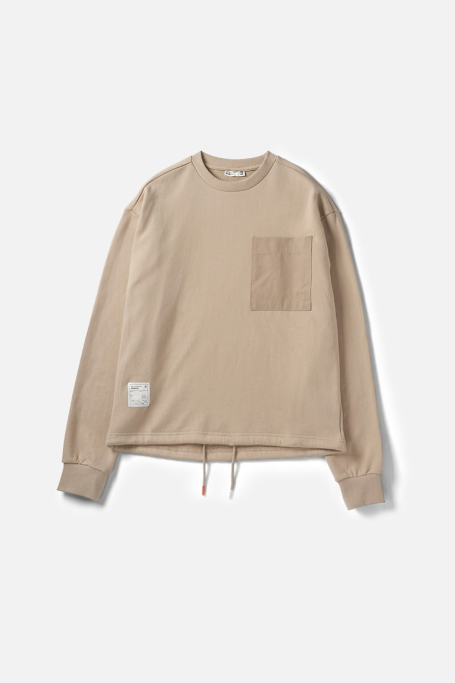 RAWROW X AECA WHITE STRING SWEAT SHIRT-BEIGE