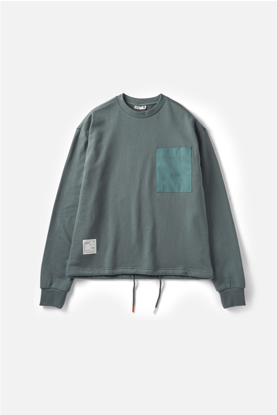 RAWROW X AECA WHITE STRING SWEAT SHIRT-GREEN