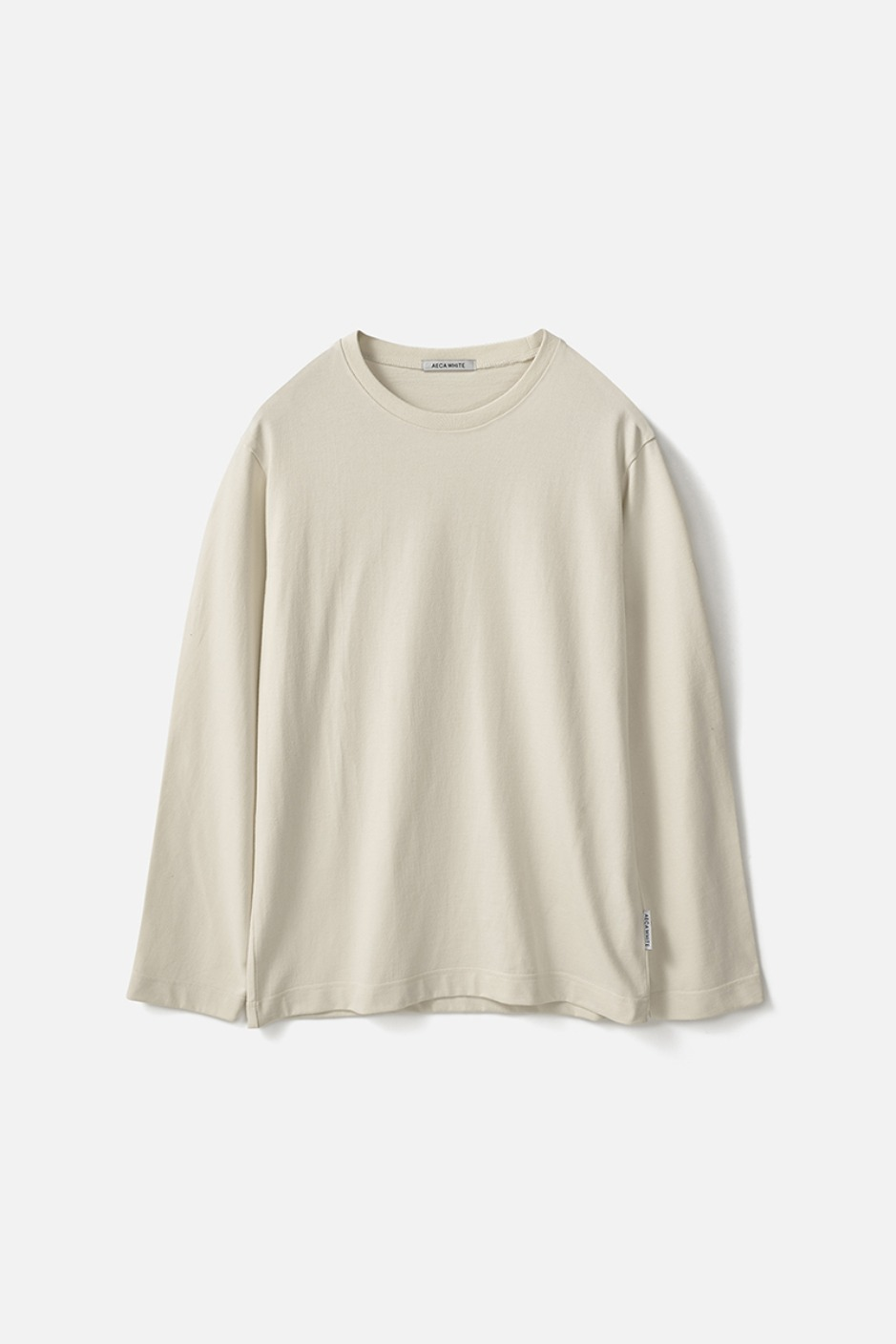 STANDARD LONG SLEEVE TEE (Premium BASIC)-CREAM