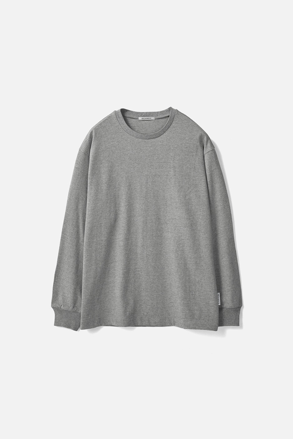RELAXED LONG SLEEVE TEE(Premium BASIC)-GREY