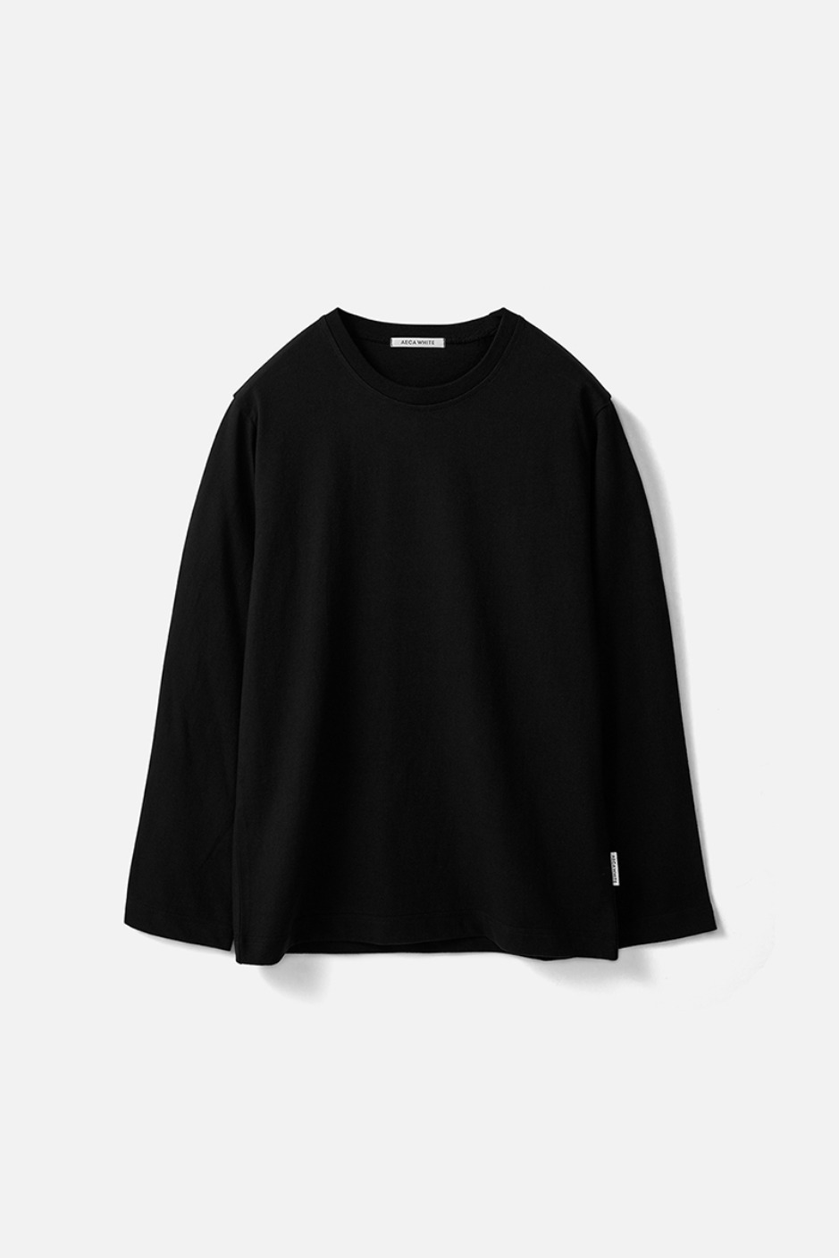 STANDARD LONG SLEEVE TEE (Premium BASIC)-BLACK