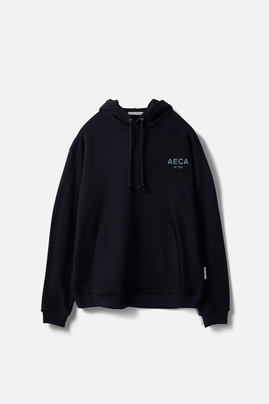 AECA SMALL LOGO PULLOVER HOODIE-NAVY
