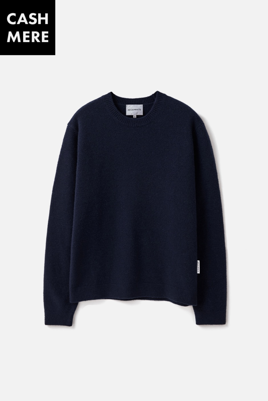 CASHMERE WOOL KNIT (Premium BASIC) -NAVY