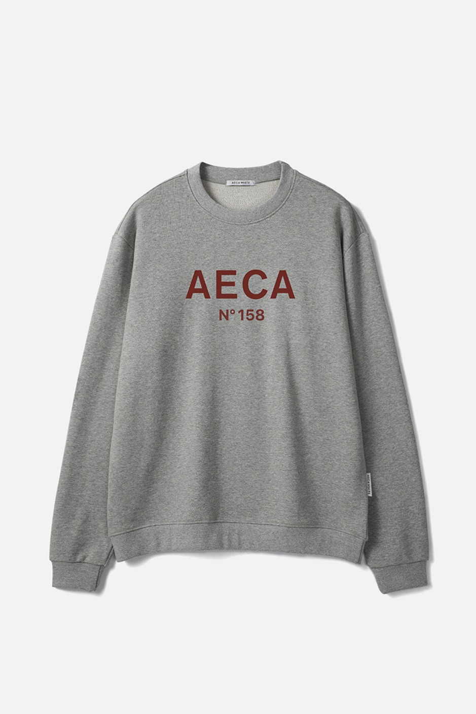 AECA BIG LOGO SWEATSHIRT-GREY