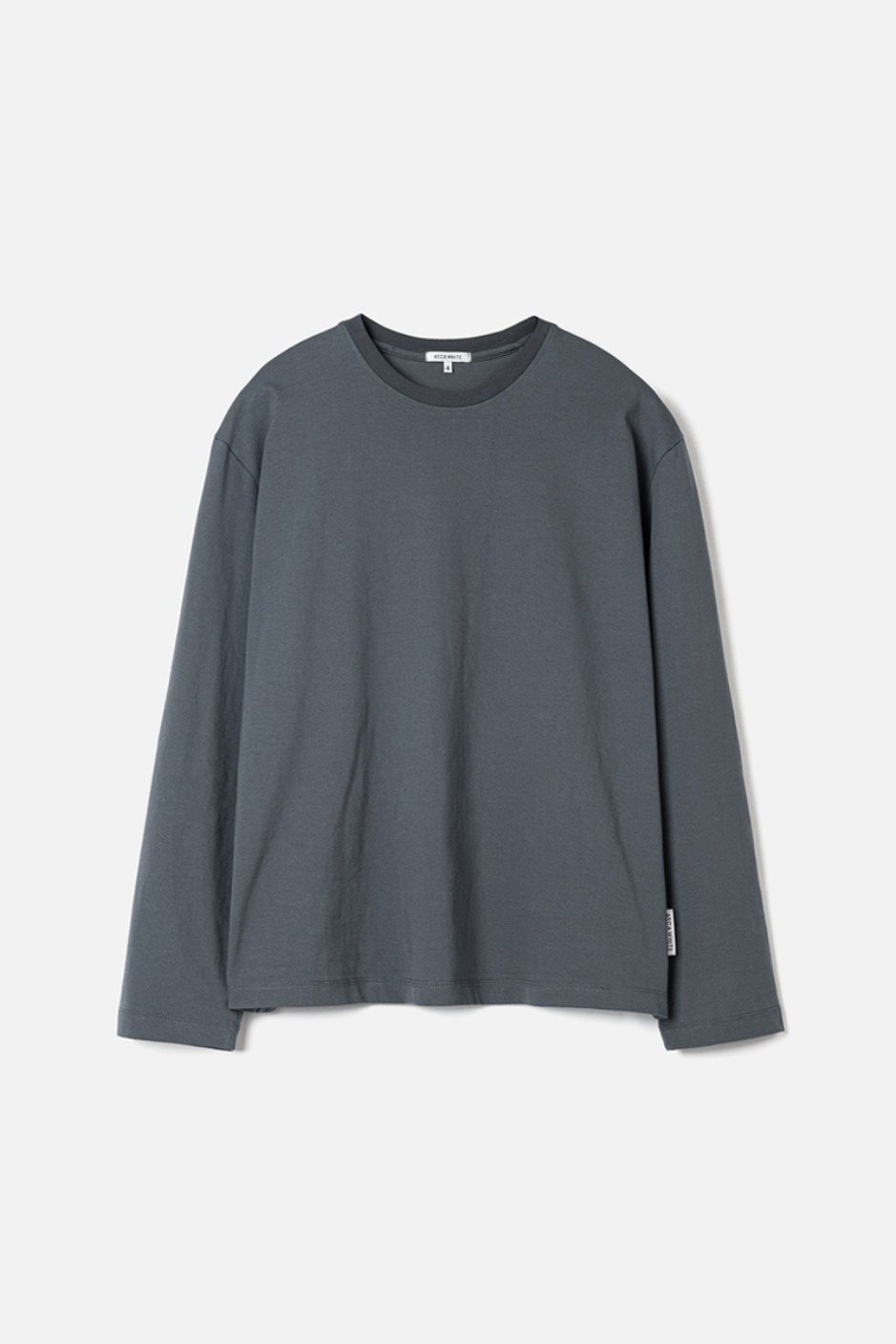 STANDARD LONG SLEEVE TEE(Premium BASIC)-ASH BLUE