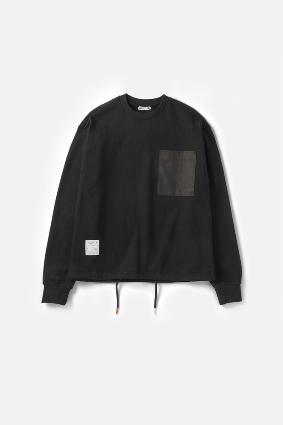 RAWROW X AECA WHITE STRING SWEAT SHIRT-BLACK