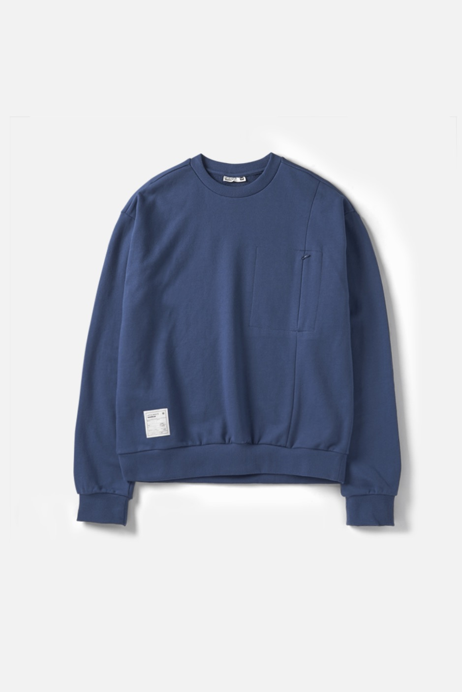 RAWROW X AECA WHITE SWEAT SHIRT-DEEP BLUE